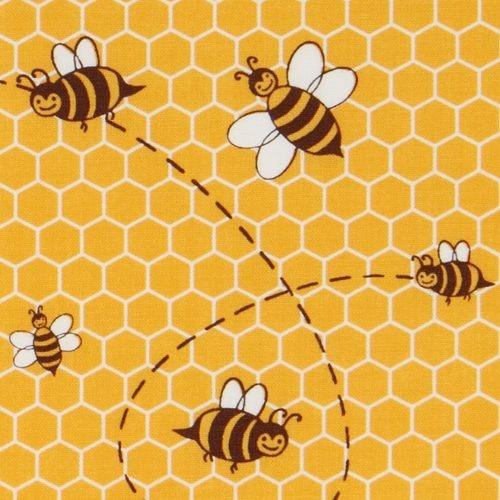 Cute yellow michael miller fabric honey bee fabric