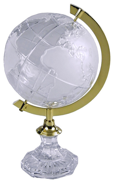 JT Lighting Crystal Polished Brass Ring Globe contemporary-paintings