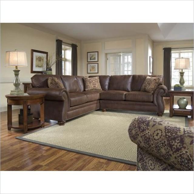 Broyhill Laramie 2 Piece Sectional Sofa with Cherry Wood ...