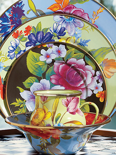 MacKenzie-Childs Flower Market Charger contemporary-tabletop