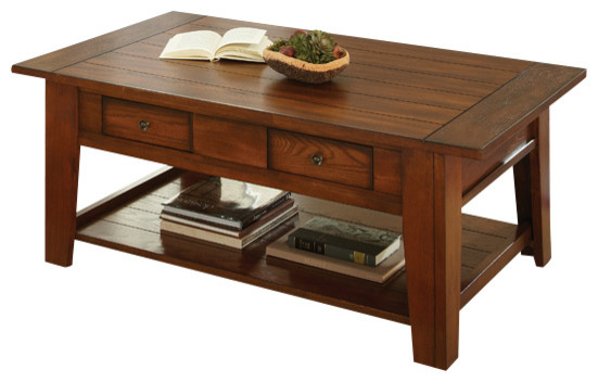 Steve Silver Desoto 4 Piece Coffee Table Set With Casters In Dark Oak Traditional Coffee