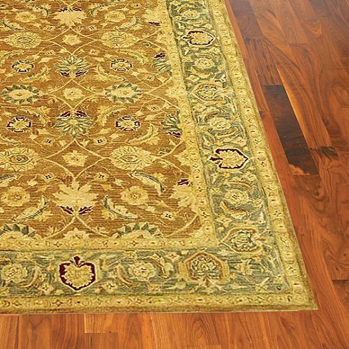 Anatolia Blue Wool Area Rug - 4' Round traditional-rugs