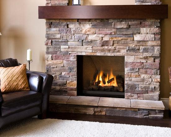 Ventana Series Fireplace - Ventana with Inca Slab Liner (1255IBL).
