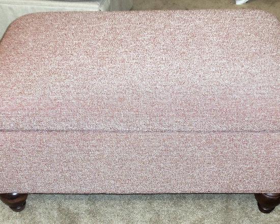 Customer Custom Orders - Clayton Marcus Ottomans at Barnett Furniture in Trussville / Birmingham, AL.  You Choose the Fabric