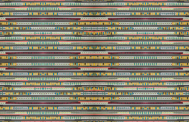Stripe Down Floor Mat, Large eclectic-rugs