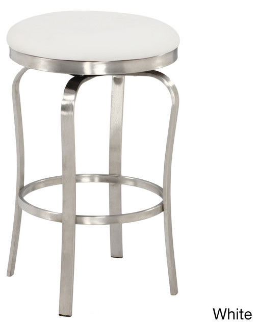 modern backless upholstered stainless steel counter stool contemporary bar stools and. Black Bedroom Furniture Sets. Home Design Ideas