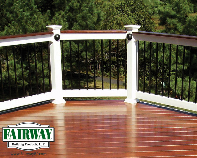 Fairway vinyl railing traditional outdoor products other metro by fairway building products - Vinyl railing reviews ...