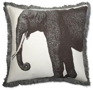 Thomas Paul Elephant Bazzar Linen Pillow asian-decorative-pillows