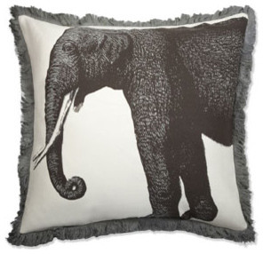 Thomas Paul Elephant Bazzar Linen Pillow asian pillows