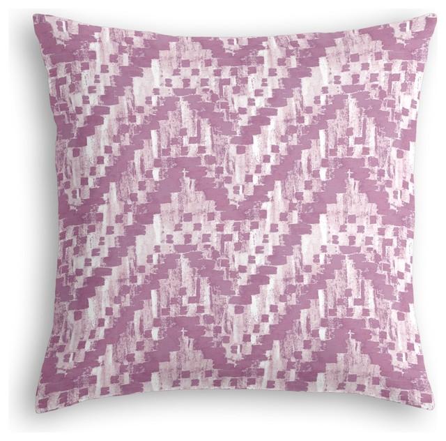 Purple Watercolor Zig Zag Custom Pillow contemporary-decorative-pillows
