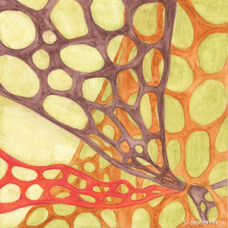 Organics #19 (Original) by Marilyn Fenn contemporary-prints-and-posters