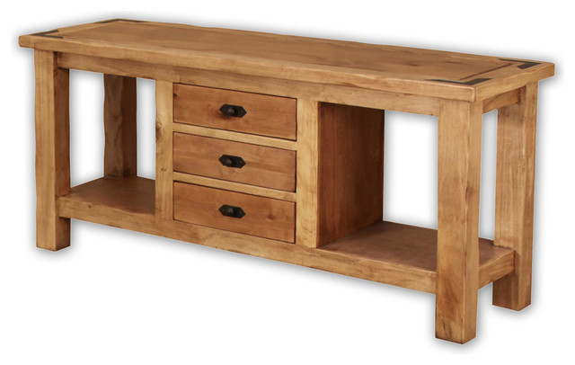 Artisan Home Lodge 100 3-Drawer Rectangular Console Table traditional-console-tables