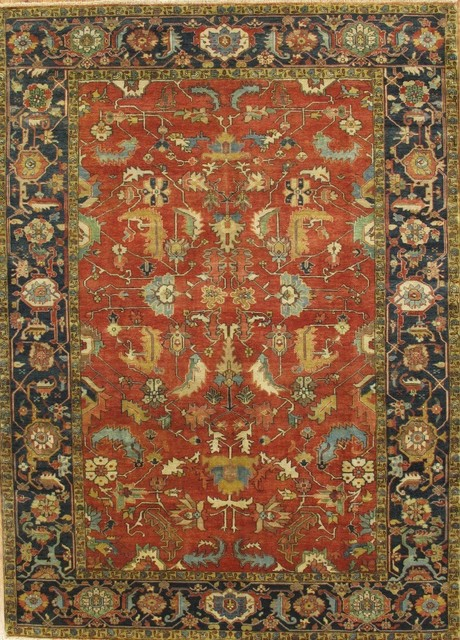 pasargad serapi collection heriz knotted wool traditional area rug 6x9 traditional
