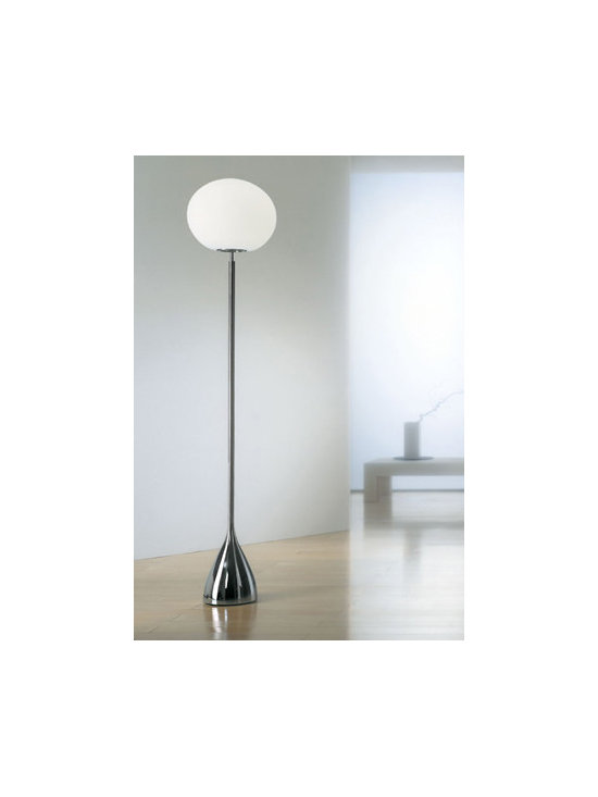 Sphera F Floor Lamp By Leucos Lighting - Sphera from Leucos are a series of floor lamps with a satin white blown glass diffusers.