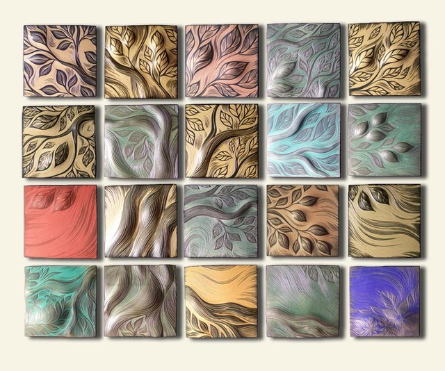 Handmade ceramic decorative tile for Artwork on tile ceramic mural