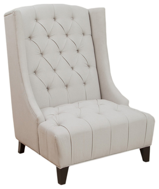 winger wingback accent chair transitional armchairs