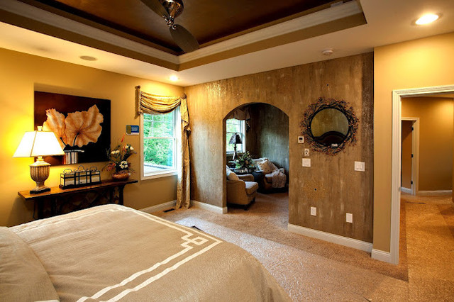 Master bedroom with reading nook traditional-bedroom
