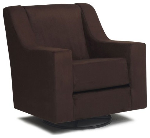 Harmony Kids Maybury Glider with Optional Ottoman - Chocolate contemporary rocking chairs