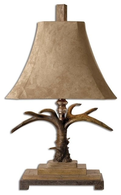 Uttermost Stag Horn Table Lamp Contemporary Table