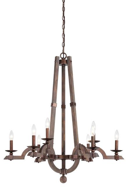 Savoy House 1-9601-9-327 Berwick 9 Light Wood Chandelier contemporary-chandeliers