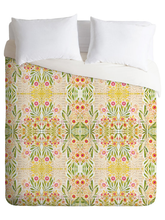 DENY Designs - Cori Dantini Meadows Duvet Cover - Turn your basic, boring down comforter into the super stylish focal point of your bedroom. Our Luxe Duvet is made from a heavy-weight luxurious woven polyester with a 50% cotton/50% polyester cream bottom. It also includes a hidden zipper with interior corner ties to secure your comforter. it's comfy, fade-resistant, and custom printed for each and every customer.