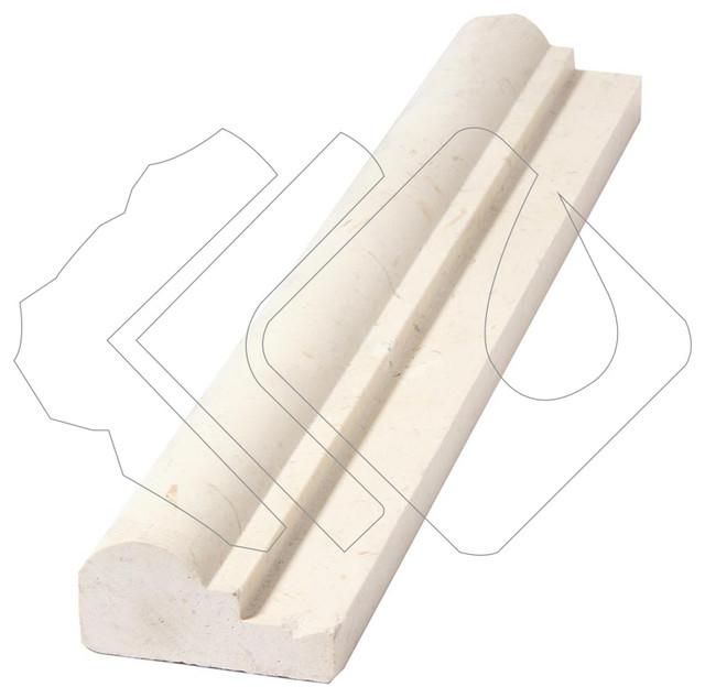 Colossae Bone Limestone 2x12 Ogee Chair Rail Moulding