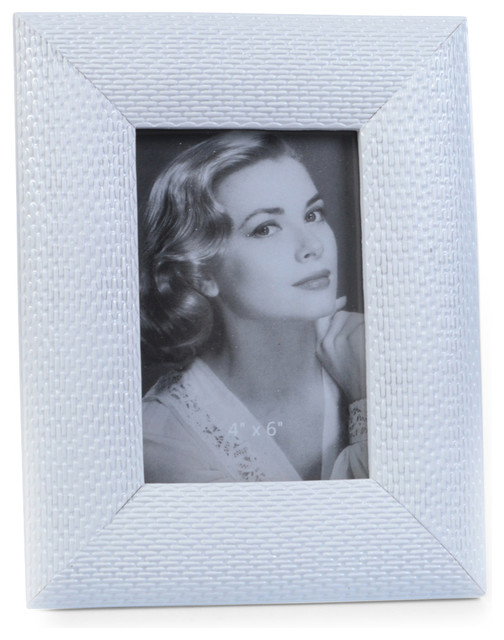 "Concepts Life Photo Frame  Loving Link  White  4x6"" contemporary-picture-frames"