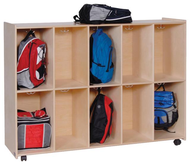 Steffywood Home Kids Mobile Cubby Hook Lockers Bookbag Storage Cabinet ...