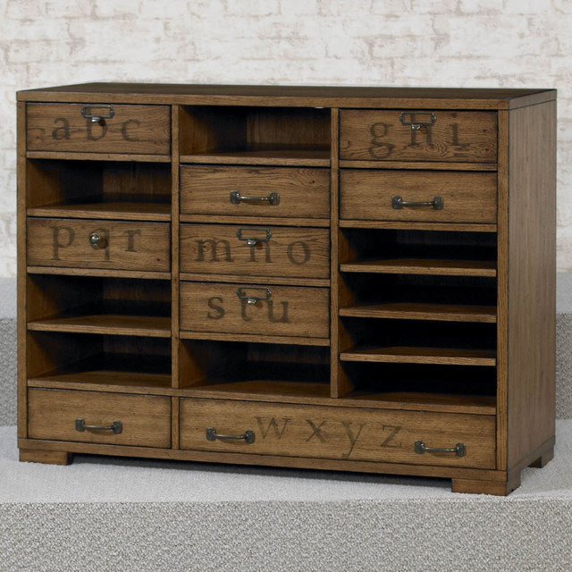 Hidden Treasures Printers Cabinet - Filing Cabinets - by Modern Furniture Warehouse