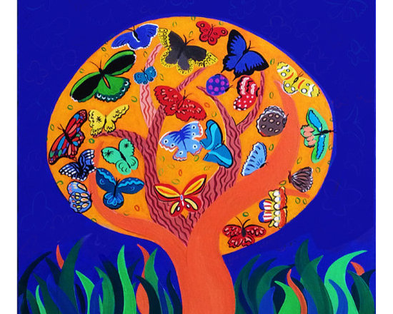 The Tree of Life, 30 x 30 in -