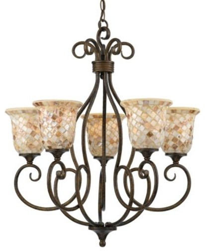 Monterey Mosaic Chandelier by Quoizel traditional-chandeliers