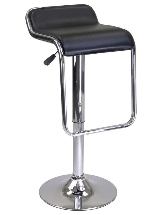 "Winsome Wood - Winsome Wood Oslo Air Lift Stool - Backless - Chrome Frame - Footrest - Add this unique and distinct Oslo Adjustable Airlift Stool.to your home. It features Faux Leather Seat that is swivel with Chrome Metal frame to form a foot rest. Adjustable seat height from 23.25"" to 31.50"". Ready to Assemble Barstool (1)"