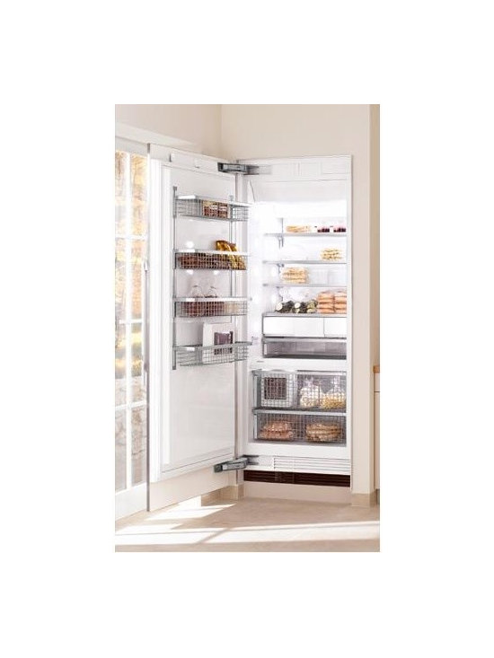 """Miele 36"""" Fully Integrated All Freezer - This is a fully integrated all freezer by Miele.  The fully integrated design allows the freezer to truely blend in with the kitchen, and it accepts either custom panels or a stainless steel front."""
