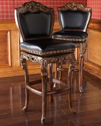 Quot Drama Scroll Quot Stools Victorian Bar Stools And Counter