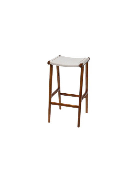 Casa leather counter stool -