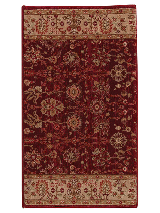 """Satin Topaz runner roll rug in Ruby - The crisp, traditional designs, fashion forward colorations and extra tight packed pile (1/2"""" thick) will wear like iron and give years and years of superior service."""