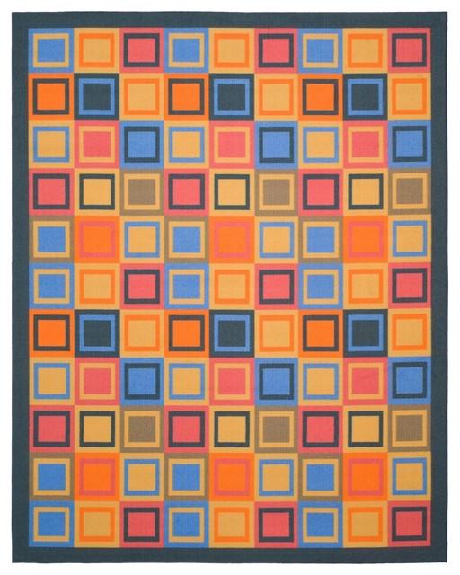 Safavieh Metropolis MTP531-6591 Blue - Multi Area Rug contemporary-carpet-tiles