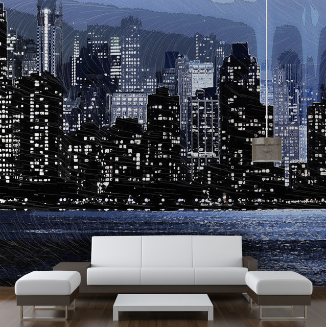 New york skyline modern wallpaper other metro by for New york city decor