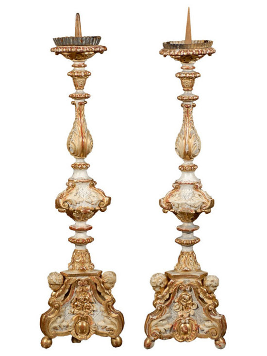 Current Inventory for Purchase - Pair of Italian Candlesticks