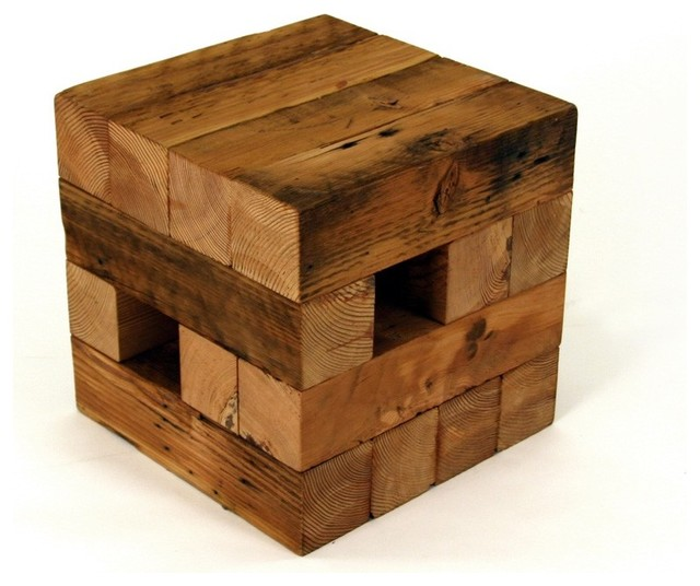 Koper Reclaimed Wood Table eclectic-side-tables-and-end-tables