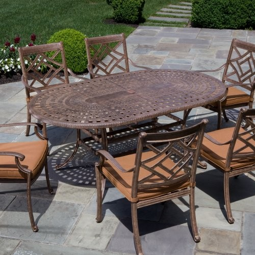 Alfresco Home Sarasota Dining Set Seats 6 Contemporary Patio Furniture