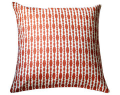 Modern Organic Pillow - Raindrops Mandarin contemporary pillows