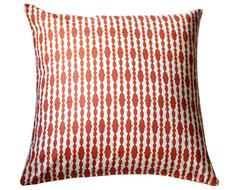 Modern Organic Pillow - Raindrops Mandarin contemporary-pillows