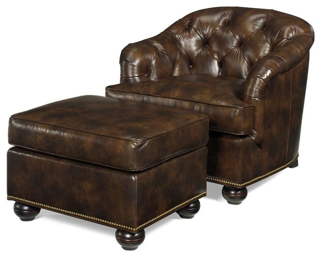 New ottoman wood leather removable leg traditional