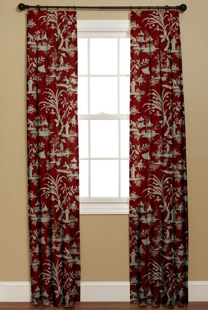 Teal And Coral Curtains Tropical Curtains and Drapes