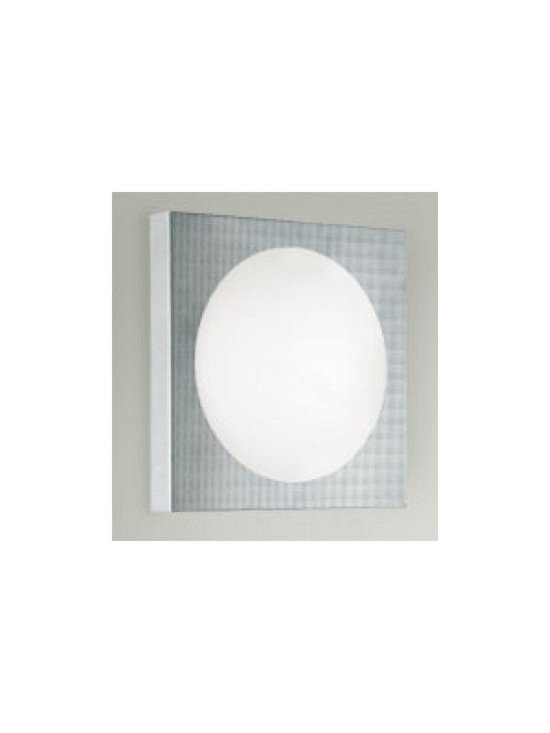 """Zaneen Lighting - Dome One Light Wall Sconce in Silver Gray - Features: -One light wall sconce. -Dome collection. -Designed by: Poom-Lab. -Silver finish. -Frost white glass. -Approved by CSA for North American Standards. -ADA compliant. Small Specifications: -Accommodates: 1x60W G9 halogen bulb. -Overall dimensions: 7.75"""" H x 7.75"""" W x 2.25"""" D. Large Specifications: -Accommodates: 1x100W medium base bulb (not included). -Overall dimensions: 11.75"""" H x 11.75"""" W x 3.5"""" D."""
