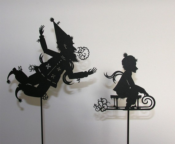 Jack Frost Lasercut Shadow Puppet by Isabella's Art contemporary-artwork