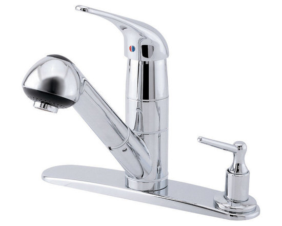 Danze Melrose™ Single Handle Pull-Out Kitchen Faucet - 2 function spray/aerated stream.