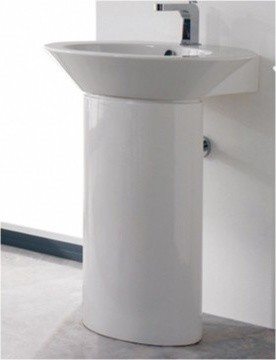 contemporary ceramic pedestal sink by scarabeo contemporary bathroom