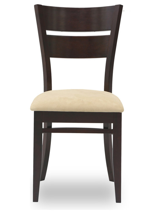 Bryght - Grace Sand Fabric Upholstered Dining Chair - The Grace dining chair showcases a timeless and classic vintage design. Simple yet graceful, the Grace dining chair is well suited for all occasions, with its bentwood slat back and a cozy padded seat in microfiber.